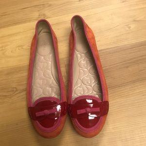 Women's Joan & David Leather Bow Flats Size 8